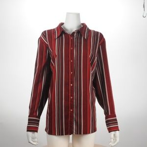 East 5th - Red Striped Button up - Size 2X